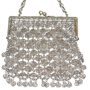 Antique Filigree Mesh Chinese Purse