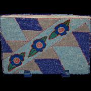 Art Deco Beaded Stripe Geometric Clutch Purse