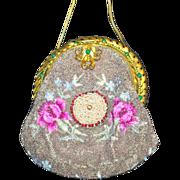 SALE Elegant Vintage Beaded Jeweled Purse