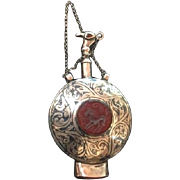 Antique Carnelian Turkish Persian Turquoise Bird Scent Bottle