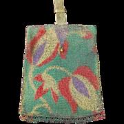 REDUCED Unusual Dresden Mesh Slide Handle Bag Stylized Floral Purse