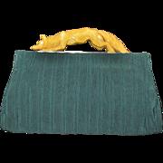 Vintage Bakelite Figural Handle Fox Purse RARE