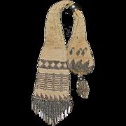 SALE 19th Century Steel Beaded Crochet Miser Purse Bag