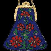 REDUCED Vintage Trinity Plate Jeweled Frame Beaded Purse