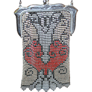 REDUCED Marked Whiting and Davis Deco Beadlite Mesh Purse