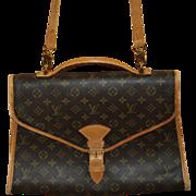 Authentic Louis Vuitton Monogram Belair Messenger Document Briefcase Bag