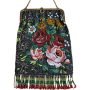 SOLD LAST CHANCE! Colorful Floral Beaded Purse