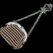 Antique Steel Crochet 19th Century Chatelaine Coin Purse