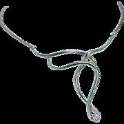 Designer Jose Hess .25ct VVS2 G Diamond Unique Necklace Choker 14K Yellow Gold