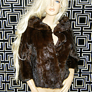 SOLD JACOBSONS~Breathtaking Vintage Mahogany/Ranch Mink Fur Coat/Jacket/Stole