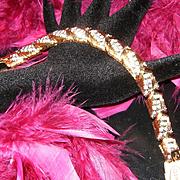 DORLAN~Stunning New Vintage Goldtone Rhinestone/Crystal Statement Bracelet