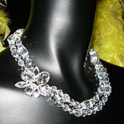 NWT~$238~NORDSTROMS~Stunning Vintage SWAROVSKI Crystal Runway Statement Necklace