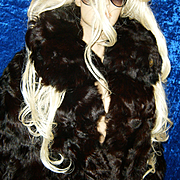 EXCELLENCE~SZ XXL~Amazing Full Length Brown/Burgundy Curly Lamb/Goat Fur Coat