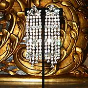 """ANN VIEN~Stunning 4"""" Vintage Huge Crystal/Rhinestone Runway Statement Earrings"""