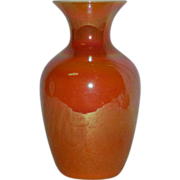 Imperial, Freehand, Lead Lustre, Art Glass Vase