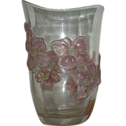Rare, Dorflinger, Stained, Art Glass Vase