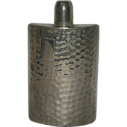 10 Oz., Hammered Metal, Tin Lined, German/U.S. Zone, Whiskey Flask