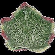 Majolica, Leaf Plate