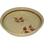 "Watt Pottery, Autumn Foliage, 13"" Spaghetti Bowl"