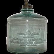 Early, Aqua, Kerosene Stove Fuel Jar