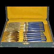 Sauzede, 12 Pc. Fruit Fork and Knife Set W/Original Box