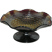 Northwood, Amethyst, Petals, Carnival Glass Compote