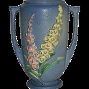 """Blue, Roseville Art Pottery, Foxglove, 45-6"""" Vase"""