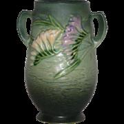 """Green, Roseville Art Pottery, 120-7"""" Freesia Vase"""