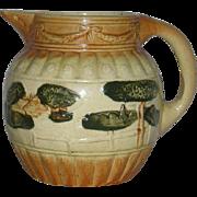 Roseville Art Pottery, Large, Landscape Pitcher