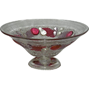 """Westmoreland, Della Robia, Large, 12"""" Ruby Stained Fruit/Center Bowl"""