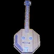 Hand Made, Folk Art Walnut Guitar