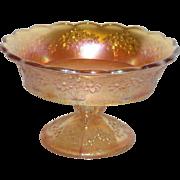 Fenton, Marigold, Orange Tree, Carnival Glass Sherbert