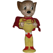 SOLD 1950's, Mighty Mouse Rubber Doll