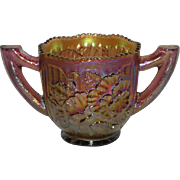 Lavender, Imperial Pansy, Carnival Glass Open Sugar