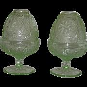 Pair, Tiara, Chantilly Green, Sandwich Pattern Fairy Lights