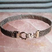 SOLD Sterling Silver Fine Mesh - Bracelet