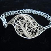 Sterling & Fine Silver Filigree free form Bracelet