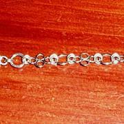 14K White Gold-Filled Quad-Link  - Bracelet
