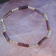Sterling Silver Filigree and Lavender Jasper - Bracelet