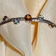 SOLD Sterling Silver Tourmaline - Bracelet
