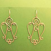 Sterling Silver Angel Earrings