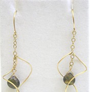 SALE 14k Gold-filled Andalucite Parabola  - Earrings