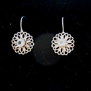 Sterling Silver Flower Topaz - Earrings