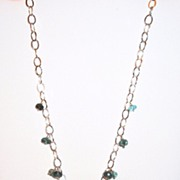 Sterling Silver Faceted Aquamarine - Necklace