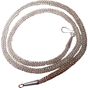 "SS Viking Knit 4.5 MM Diameter Neck Chain 20.5"""