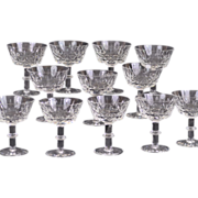 SALE Royal Brierley Hand Blown and Hand Cut Ascot Pattern Champagne /Tall Sherbet Set of 12