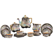 SALE Highly Detailed Moriage Dragon Ware Hand Painted 20 Piece Tea/Dessert Set by Moriyama ...