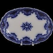 """SALE Lovely Alfred Meakin Flow Blue 14"""" Oval Platter in the Art Nouveau """"Cambridge"""""""