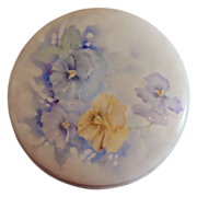 SALE Limoges Hand Painted Artist Signed Round Dresser Box