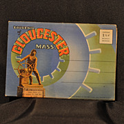 "1945 ""Souvenir of Gloucester Mass."" Linen Folder of Postcards by Curt Teich & Co. Chicago"